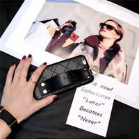 мобильные телефоны оптовых-Кожаный чехол для мобильного телефона для Iphone X Xs Max XR 8/7/6 Plus Задняя крышка Чехол для телефона с ремешком на запястье