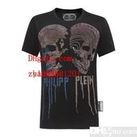 mens hip hop t-shirts kleidung großhandel-Die 2019 Markenkleidung der Männer, die T-Shirt druckt, Sommerkleidung der Männer schließen Hülsen-Hip-Hop weg vom Spitzen-T-Stückmann um Art- und Weisepunktrendweißt-shirt DS-Q1