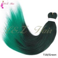 Wholesale hair styles for braids online - 26 inch Hot Water Set Soft Pre stretched Yaki Style Easy Braids Ombre Color Synthetic hair Jumbo Braid for Crochet Twist