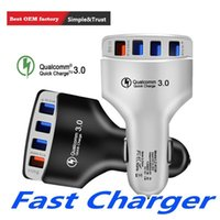 Wholesale best android gps phone online – Best Car Charger Quick fast Charger QC3 W A Car chargers adapter for iphone x samsung htc android phone gps mp3