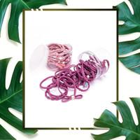 корейская лента лука оптовых-24PCS/Set Korean Style Pearl Girls Lovely Ribbon Bowknot Hair Ropes Rubber Band Cute Hair Ties Bow Elastic Band Gift
