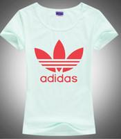 neue hemdentwürfe für frauen großhandel-Baumwolle geschnitten Doodle Print ADI Print Frauen T-Shirt Casual Oansatz Frauen T-Shirt New Design Woman T-Shirts Siebdruck Brief Siebdruck NO.86