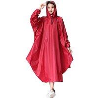 erwachsener pvc regenmantel großhandel-Lange Regenjacke mit Kapuze Regenmantel PVC Erwachsene Abdeckung Regen Mantel Hut Anzug Cape Gear Poncho Feminino Deszcz Regenmantel Baby 50KO188 # 319422
