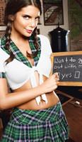 garota uniforme erótica venda por atacado-Laides Sexy Naughty High School Da Menina Estudante Traje Exótico Erótico Fetiche Estudante de Lingerie Secretária Lingerie Uniforme