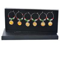 Wholesale charms wine glasses resale online - Resin Pendant Earrings Rings Snowflake Modeling Wine Marker Charms Pendants Christmas Theme Wines Glass Marking Creative td L1