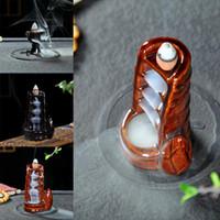 weihrauchspule sandelholz großhandel-Neue Keramik Räuchergefäßhalter Bambusform Rauch Rückfluss Räuchergefäßhalter Neue Räuchergefäßhalter