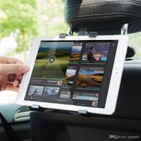araba için tablet braketi toptan satış-Ipad 2/3/4 için Tablet Araç Tutucu Standı Hava Pro Mini 7-11 'Evrensel 360 Rotasyon Braketi Arka Koltuk Araba Montaj Handrest PC