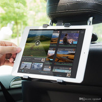 suporte para tablet para carro venda por atacado-Suporte do carro Tablet Stand para Ipad 2/3/4 Air Pro Mini 7-11 'Universal 360 Rotação Bracket Back Seat Car Mount Handrest PC