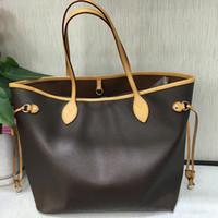 en iyi hakiki deri çantalar toptan satış-Pembe Sugao Desinger çanta üst en kaliteli hakiki deri omuz çantası 2pcs / set Nefu kadınlar çanta ve tarih kodu toptan ile çanta