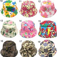 Wholesale sun protective hats resale online - New Baby Summer Bucket Hat Anti UV Sun Protective Fisherman Hats Child Cap For Outdoor Beach Travel Fishing Hats Portable xm BB