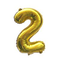 balon ballon toptan satış-Mavi Pembe Numarası Balon Mutlu Doğum Günü Balon Doğum Günü Partisi Dekorasyon Çocuklar Oğlan Kız Parti Ballon Numarası toptan