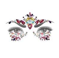hoja de tatuaje temporal del cuerpo al por mayor-1 Hoja Brillo Joyas Etiqueta Engomada Del Tatuaje Cara Cuerpo Gemas Adorno Festival Fiesta Belleza Temporal Herramientas de Tatuaje Maquillaje decoración