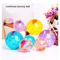 corde de balle clignotante achat en gros de-Boule de cristal rougeoyante colorée boule clignotante 6.5 avec jouet lumineux corde lumineuse ruban ruban boule de cristal pour enfants