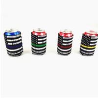tazas congeladas al por mayor-Bandera de Estados Unidos cerveza tazas manga material de buceo impresos moda protección del medio ambiente anticongelante taza Neopren tazas cubierta taza mantenga T2I5017
