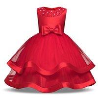 vestido de vestido de los mejores niños al por mayor-El mejor vestido sin mangas del cordón de la muchacha del verano para los vestidos florales de la boda del cumpleaños de los niños del nuevo vestido de la princesa del diseñador vestido de la muchacha adolescente