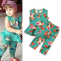b39386bbf Wholesale children's boutique clothes resale online - Baby designer girls  outfits children Floral print dress top