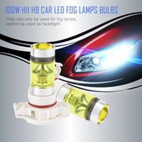 lâmpadas led h16 venda por atacado-2 pcs 100 W H16 5202 3000 K PS24W de Alta Potência Lâmpadas LED de Ouro Luz Amarela Frente Do Carro Lâmpadas de Nevoeiro Luzes de Nevoeiro Acessórios Do Carro
