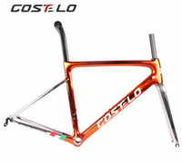 tamaño de bicicleta de carretera auriculares al por mayor-Costelo Speedmachine3.0 Electroplate superlight 790g disco de carbono carretera bicicleta marco bicicleta bicicleta fibra de carbono marco barato
