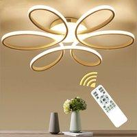 oscurecimiento de la lámpara al por mayor-NUEVAS lámparas de araña modernas para la sala de estar del dormitorio Comedor de la lámpara de techo Lámpara de techo Atenuación de la iluminación del hogar luminarias