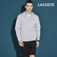 hoodies poches zippées achat en gros de-2019 Nouveau Giorgio Sweatshirts Hommes De La Mode Zipper Cardigan Veste Poches Plissées Sportwear Hommes Hoodies Sweatershirt broderie crocodile