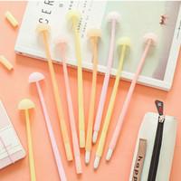 Wholesale kids korean pens resale online - 0 mm Cute Gel Pens Lovely luminous mushroom Pen For Kids Gift Korean Style Stationery Student Writing Office Supplies
