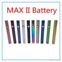bateria embutida da bateria usb venda por atacado-MÁXIMO II 2 Bateria 450 mAh Tensão Variável Vape Pen Kit de Carregamento USB Inferior para 510 Cartuchos de Cartucho De Rosca
