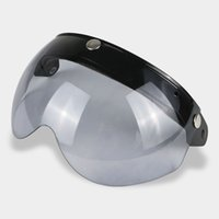 Wholesale button lens for sale – best Universal Snap Motorcycle Helmet Visor lens Flip Up W Shield lens Fit for TORC BEON buttons helmet Half face visor glass