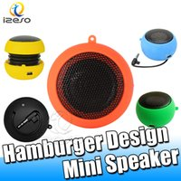 Wholesale candy mp3 player resale online - Wired Small Speakers Home Travel Sports Loudspeaker Candy Colors Unique Speaker for Mobile Phone Tablet Audio MP3 Player with Mah izeso