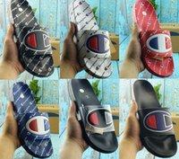 Wholesale best flip flop slipper for sale - Group buy New Designer Shoes Cheap Man Champ Flip Flops Fashion Slippers Men Women Summer Beach Slipper Casual Sandals Best Quality Scuffs Shoes