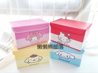 ingrosso caso delle ragazze di anime-IVYYE 28CM Melody Fashion Anime Cosmetic Bags PU Borsa per il trucco a casa Beauty Case Storage Box Pouch Wash Toilette Girls New