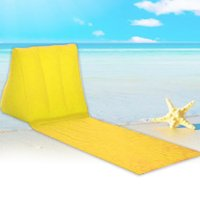Wholesale camping air beds resale online - Mattress Chair Leisure Folding Lounger Cushion Rest Waterproof Travel Portable With Inflatable Pillow Camping Air Bed Beach Mat