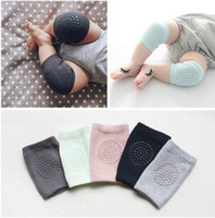 Wholesale baby crawling elbow pads resale online - Children Knee Pad Safety Crawling Elbow Cushion anti slip cotton terry baby girl protect knee breathable