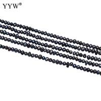 ingrosso perle d'acqua dolce nere barocco-Perle d'acqua dolce barocche coltivate Perle Nuggets Nero 2.8-3.2mm Perle piccole sfuse Per accessori regalo di gioielli fatti a mano di compleanno