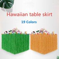 Wholesale hawaiian party dresses for sale - Group buy Hawaiian Table Skirt DIY cm Plastic Luau Flower Grass Skirt Festive Wedding Party Table Dress Decoration Flowers Grass Beach Decoratio