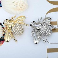 alliage de broches achat en gros de-Animal Broche strass Broche Bijoux Belle alliage Party Dress Bee PINS Broches Accessoires Bijoux Cadeaux pour la fête des Femmes Filles Saint-Valentin