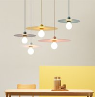 Wholesale kitchen work for sale - Group buy Nordic Simple Restaurant Glass Chandelier Creative Personality Art living Room Round Piece Chandelier Single Head Wrought Lamps
