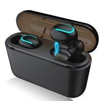 blutooth наушники оптовых-Удивительный Q32 TWS Беспроводная связь Bluetooth 5.0 Наушники Беспроводные наушники Наушники Blutooth Наушники Handsfree Спортивные наушники Игровая гарнитура