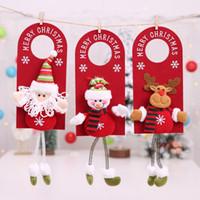 plush snowman großhandel-Ornamente Nette Elk Snowman Tür hängende Plüsch-Anhänger Weihnachtsbaum Ornament Anhänger