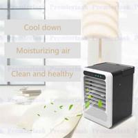 tragbare hausklimaanlagen großhandel-USB Air Conditioning Fan Mini-Luftkühler Kühlung Mobiles tragbares Klimagerät mit 7 Farben LED-Licht für Zuhause