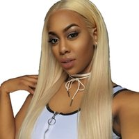 Wholesale brazilian human hair wigs for sale - Group buy Brazilian Blonde Full Lace Human Hair Wig Blond Lace Front Wigs Bleached Knots Free Part