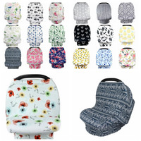 Wholesale cars feeding for sale - Ins Baby Nursing Cover Breast Feeding Cover Breastfeeding flower Cape Baby Infant Stroller Car Seat Cover design KKA6897