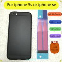 cubierta de la cubierta de la parte posterior del iphone 5s al por mayor-para iphone 5s se contraportada tapa de la batería cambie la apariencia del estilo al iphone 6 mini 6 carcasa iphone se