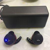 yanıp sönen kulaklıklar toptan satış-Marka Kulaklıklar U A GERÇEK Kablosuz Flaş IKIZLER Şarj Kutusu Ile Bluetooth Kulaklıklar Gerçek Stereo Kulaklık
