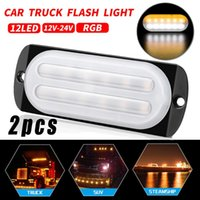 Wholesale car replacement parts resale online - Replacement LED Work Light Parts Car White yellow V V W Double Row