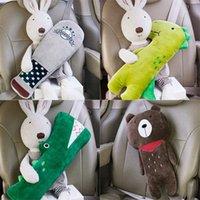 koltuk bebeği toptan satış-Küçük Hayvan Doll Çocuk Araba Konfor Peluş Yastık Karikatür Emniyet kemeri Yastık Otomatik Emniyet Kemeri Kayış Cover için Güvenlik Kayışı Set Seat