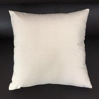 blank baumwolle kissenbezüge großhandel-16x16 Zoll Blank Leinwand Kissenbezug Natürliche Leinwand Kissenbezug Weiß Baumwolle Kissenbezug Schwarz Kissenbezug für Hand-Druck (3 Farben)