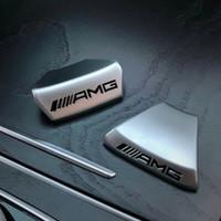 direção do logotipo do carro venda por atacado-Volante do carro AMG LOGO Emblema adesivo de carro para AMG Mercedes Benz W212 W210 G2 GLC G200 E200L C / E classe Sports Edition
