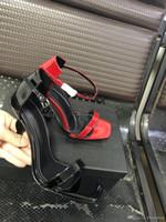 chaussures à talons hauts achat en gros de-2019 Designer femmes talons hauts party fashion rivets filles sexy chaussures pointues Danse chaussures Super High Heel Sandals Chaussures de mariage de luxe 40 41