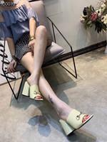 бордовый патент пятки оптовых-Горячие Продажи-Бургундия ню бежевый блестящий патент РЕАЛЬНАЯ КОЖА Дизайнер BUCKLE STRAP CHUNKY на высоких каблуках Роскошная фурнитура Модные горки сандалии мул