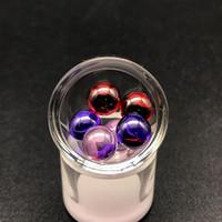 pérola de jade venda por atacado-6mm Jade Ruby Terp Pérolas Com Polimento De Quartzo Dab Beads Bolas Inserções Para Girar Carb Caps Bong De Vidro Bongos De Água De Vidro Dab Rigs